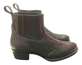 Karl Lagerfeld Paris Black Pony-style calfskin Ankle boots
