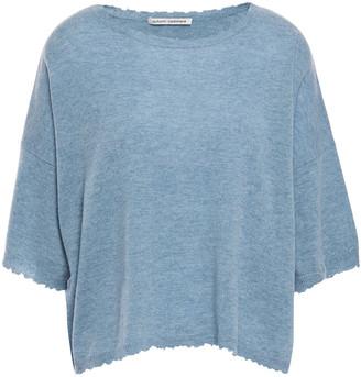 Autumn Cashmere Distressed Melange Cashmere Top
