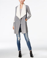 chelsea sky Sherpa-Trim Draped Vest, Only at Macy's