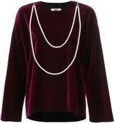 MM6 MAISON MARGIELA draped pearl chain top