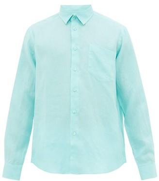 Vilebrequin Button Down Linen Shirt - Mens - Green