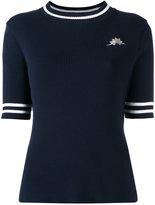 Muveil patch figure ribbed sweatshirt - women - Cotton - 38