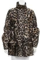 Balmain Lightweight Iridescent Leopard Print Jacket w/ Tags