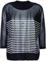 Ermanno Scervino striped fine knit sweater