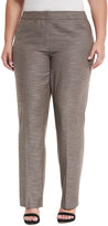 Lafayette 148 New York Barrow Loose-Fit Pants, Granite Multi, Plus Size