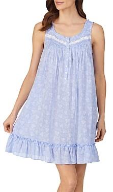 Eileen West Short Floral Print Nightgown