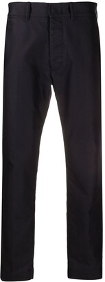 Tom Ford Navy Cotton Chino Trousers