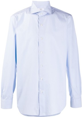 Barba Culto micro square pattern shirt