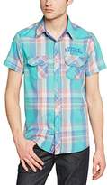 Kaporal Men's Normal Waist Classic Short sleeve Casual Shirt - -