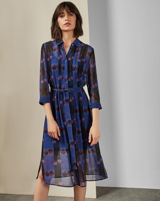 Ted Baker LAVEN Robot check shirt dress