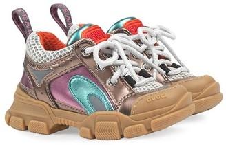 Gucci Kids Flashtrek metallic sneakers