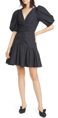 Rebecca Taylor Short Sleeve Taffeta Dress