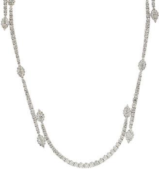 Yeprem Jewellery Round and Marquise Diamond Long Necklace
