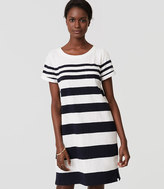 LOFT Beach Striped Tee Dress