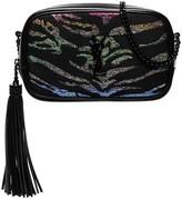 Saint Laurent Lou glitter tiger-stripe mini bag