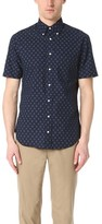 Gitman Brothers Short Sleeve Japanese Indigo Batik Shirt