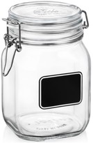 Bormioli Fido Chalk Label Large Jar, 33.75 oz.