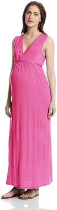 Three Seasons Maternity Women's Sleeveless Surplice Solid Maxi Dress