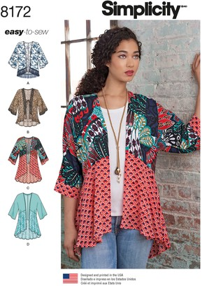 Simplicity Misses' Women's Jacket Sewing Pattern, 8172