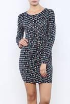 Yumi Mini Graphic Print Jersey Dress