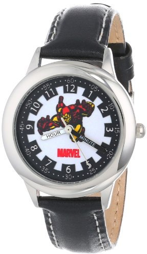 Iron Man Marvel Comics Kids' W000121 Stainless Steel Time Teacher Watch