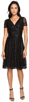 NUE by Shani Fit and Flare Sequin Lace Dress