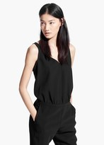 Mango Outlet Back Vent Jumpsuit