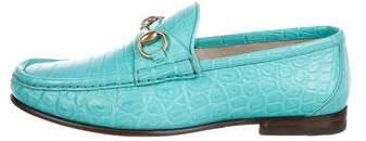 Gucci 2016 1953 Crocodile Loafers