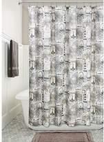 "InterDesign Paris Soft Fabric Shower Curtain, 72"" x 72"", Cafe"