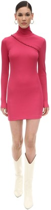 Rotate by Birger Christensen Ribbed Stretch Jersey Mini Dress