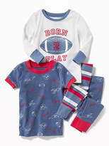 Old Navy Football-Graphic 4-Piece Sleep Set for Toddler & Baby