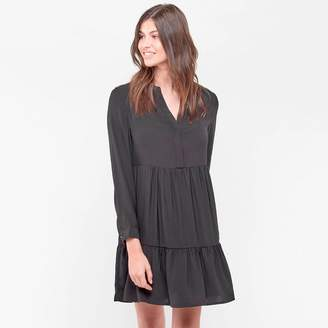 Le Temps Des Cerises Short Flared Dress with Jewelled Shoulders