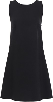 Dolce & Gabbana Pleated Embellished Wool-blend Crepe Mini Dress