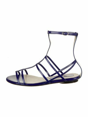 CNC Costume National Leather Gladiator Sandals w/ Tags Blue