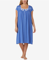 Eileen West Plus Size Lace-Trimmed Knit Waltz-Length Nightgown