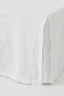 H&M Washed Linen Bedskirt