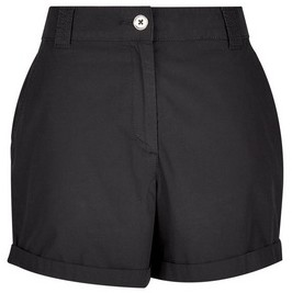 Dorothy Perkins Womens Black Cotton Shorts, Black