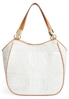 Brahmin Bora Marianna Leather Tote - White