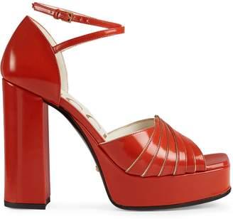 Gucci Platform Piped Sandals