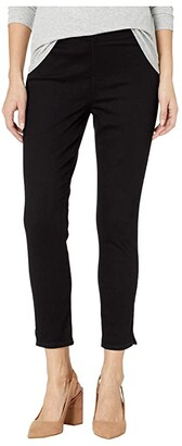 NYDJ Petite Petite Pull-On Skinny Ankle Slits in Black (Black) Women's Jeans