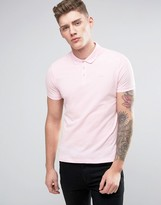 Armani Jeans Pique Logo Polo Regular Fit in Pink