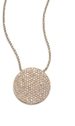 Phillips House 14K Rose Gold & Diamond Pave Large Infinity Disc Necklace