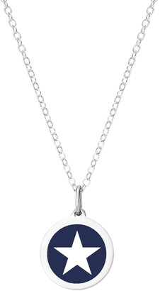 """Auburn Jewelry Mini Star Pendant Necklace in Sterling Silver and Enamel, 16"""" + 2"""" Extender"""