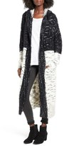 Sun & Shadow Women's Colorblock Long Cardigan