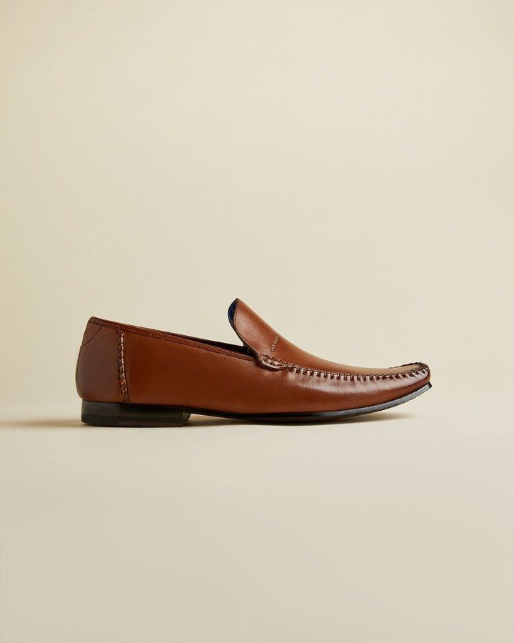 Mens Tan Leather Slip On Shoes | Shop