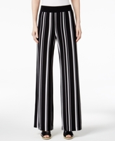 INC International Concepts Petite Striped Wide-Leg Soft Pants, Created for Macy's