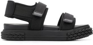 Giuseppe Zanotti Open Toe Touch Strap Sandals