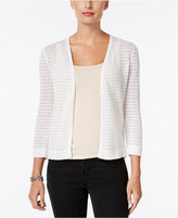 Charter Club Open-Front Pointelle Cardigan, Only at Macy's