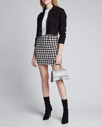 L'Agence Livia Houndstooth Mini Skirt