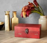 Pottery Barn Antiqued Red Wood Box